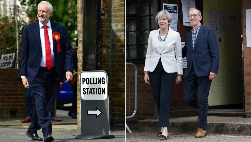 Jeremy Corbyn / Theresa and Philip May