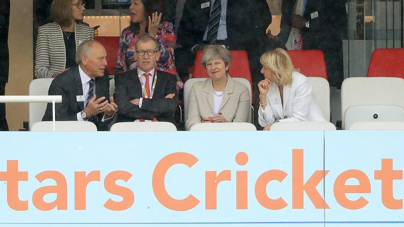 Theresa May at Lords cricket ground