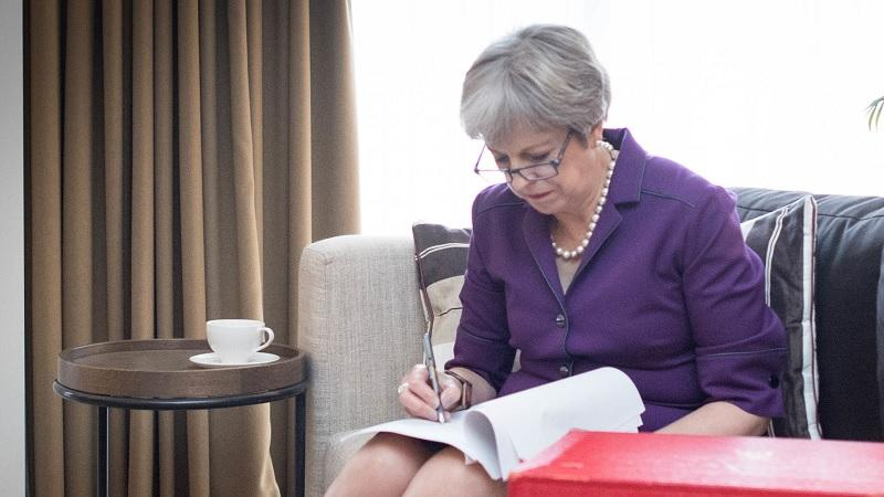 Theresa May prepares her 2018 Tory conference speech